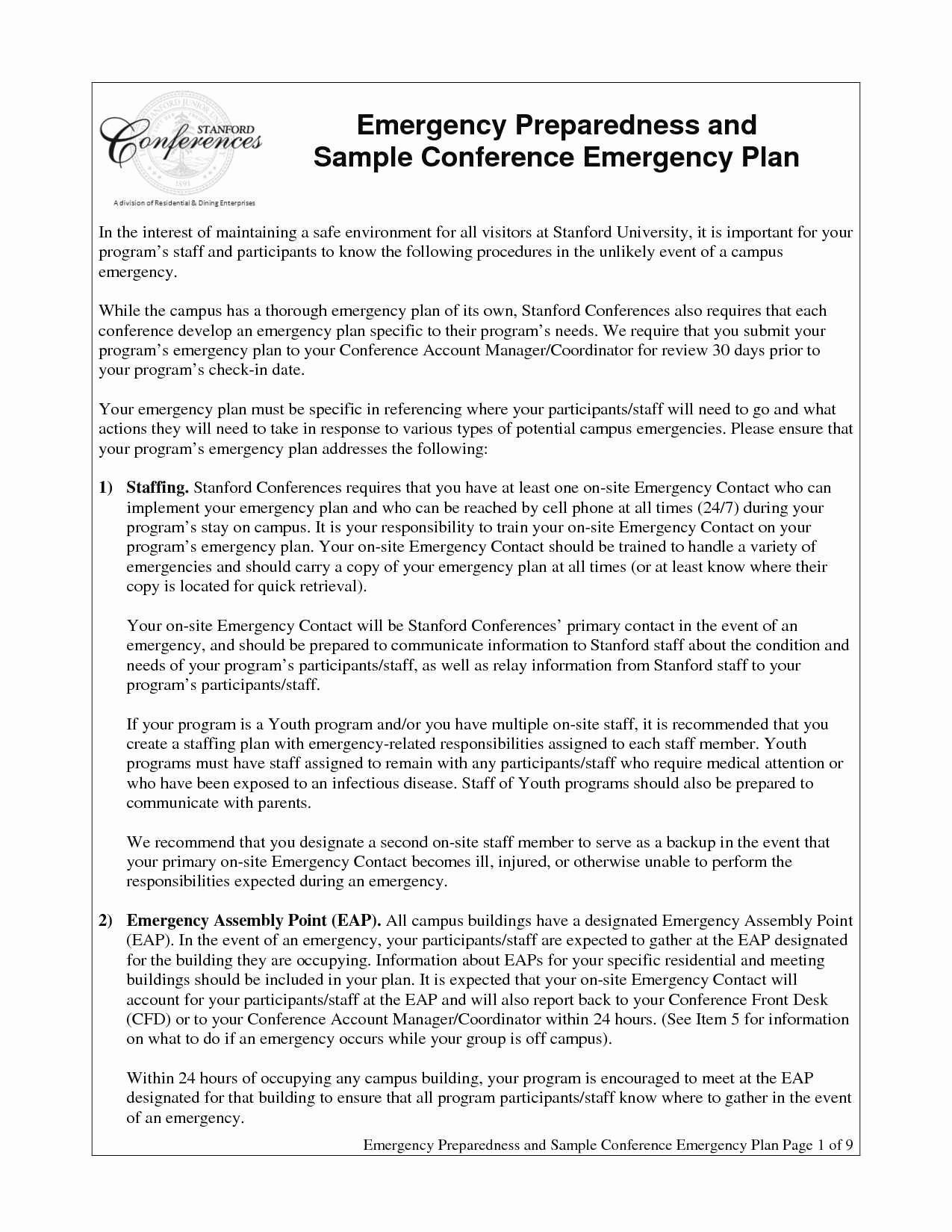 Emergency Operations Plan Template Unique Lovely School Emergency Operations Plan Template