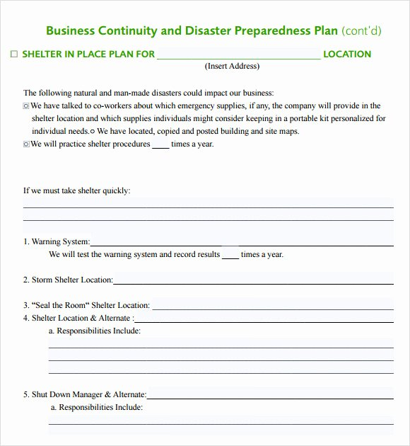 Emergency Response Plan Template Best Of 12 Sample Business Continuity Plan Templates