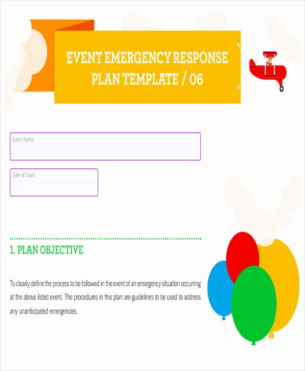 Emergency Response Plan Template Best Of 19 event Plan Templates In Pdf