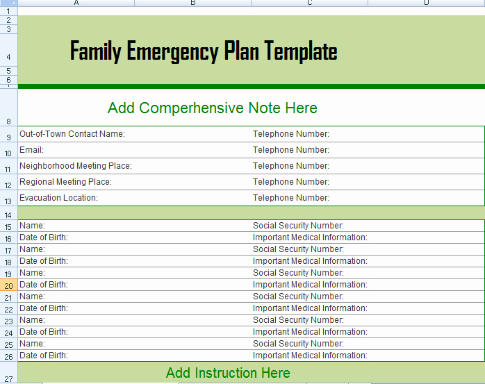 Emergency Response Plan Template Best Of Hurricane Evacuation Plan Louisiana Family Emergency Plan