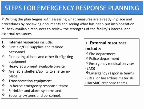 Emergency Response Plan Template Luxury 10 Emergency Response Plan Template Osha Rppaw