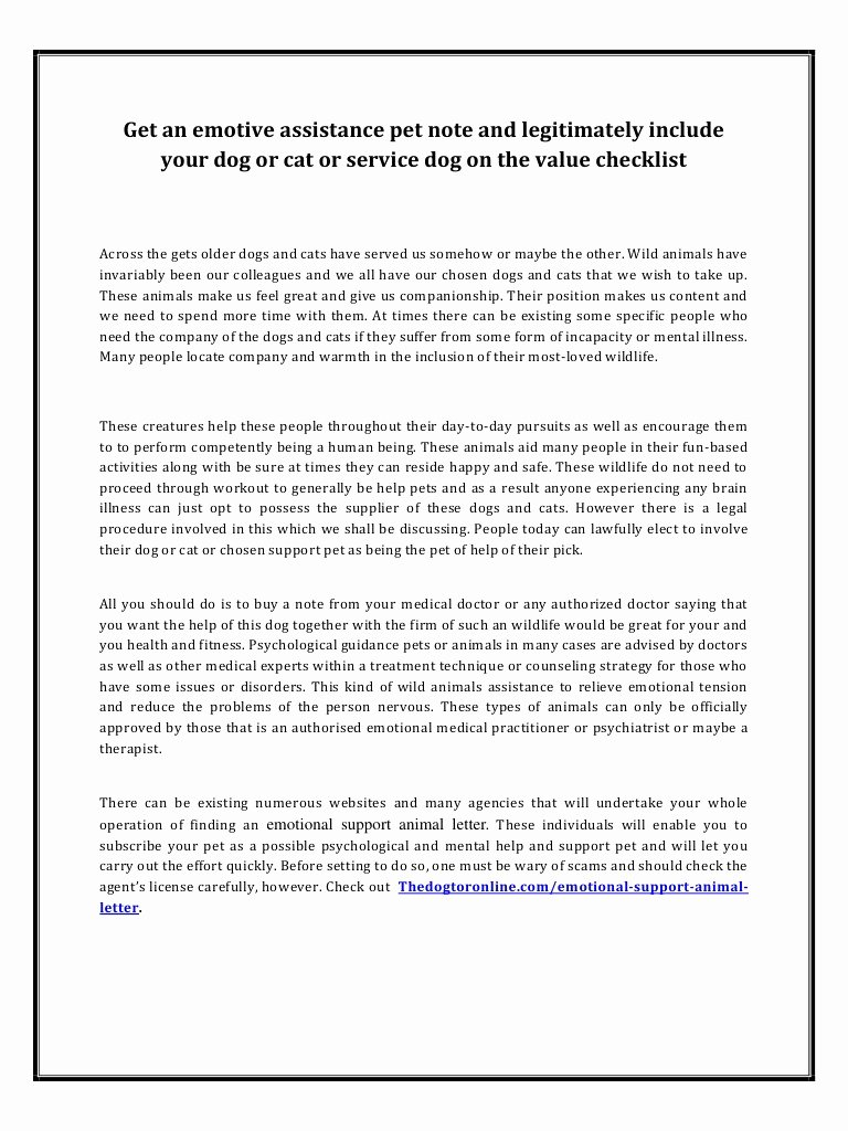 Emotional Support Animal Sample Letter for Flying Beautiful How to Get Emotional Support Animal Letter