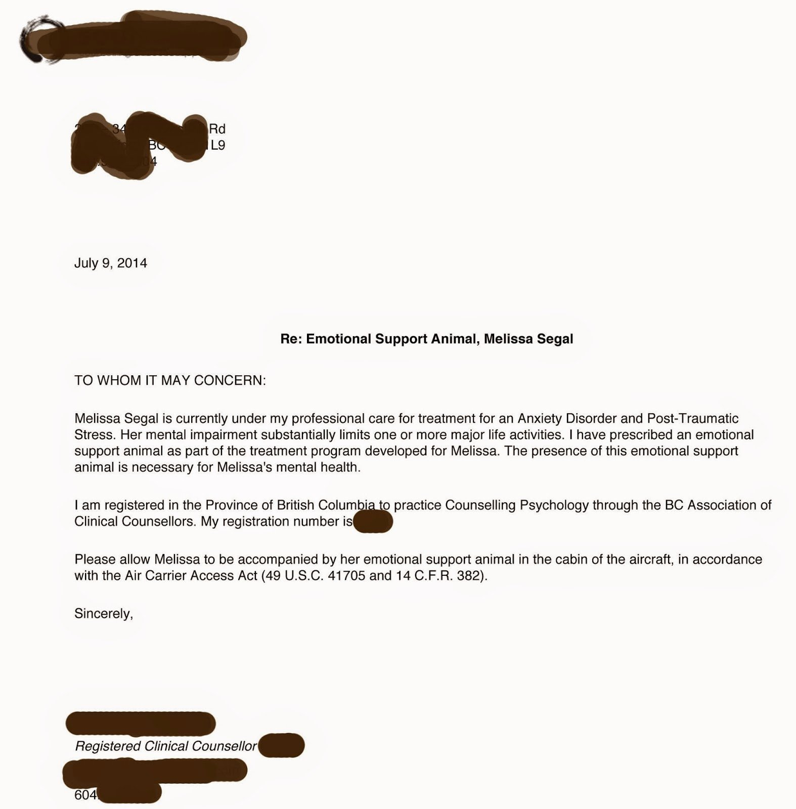 Emotional Support Animal Sample Letter for Flying Beautiful Sample Letter for Emotional Support Dog