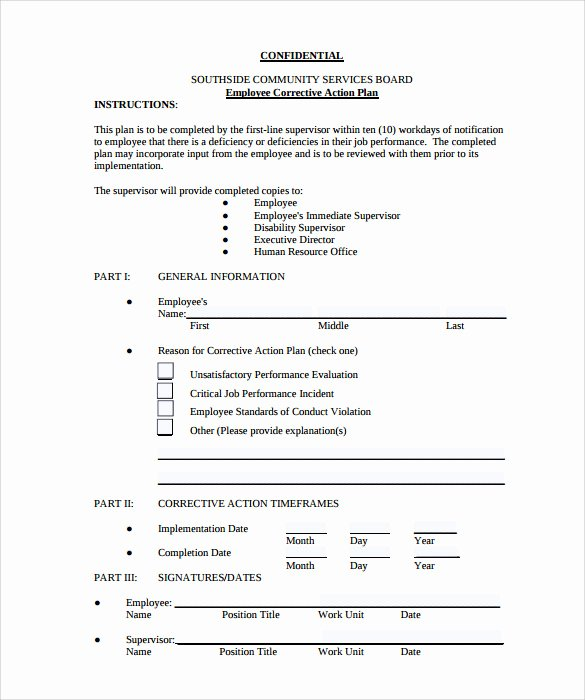 Employee Action Plan Template Elegant Employee Action Plan Template 8 Download Documents In Pdf