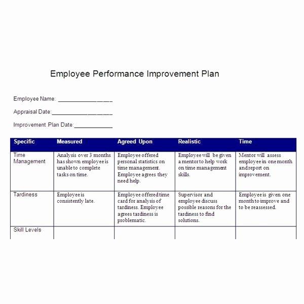 Employee Action Plan Template Elegant Smart Action Plan Template