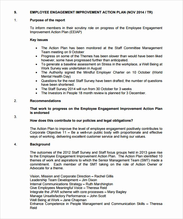 Employee Action Plan Template New 12 Sample Employee Action Plan Templates