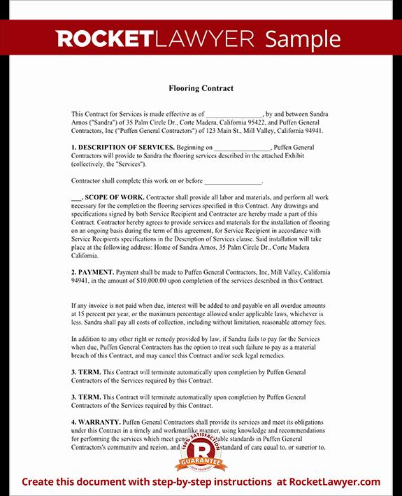 Employee Bonus Plan Template Inspirational Flooring Contract & Agreement with Sample
