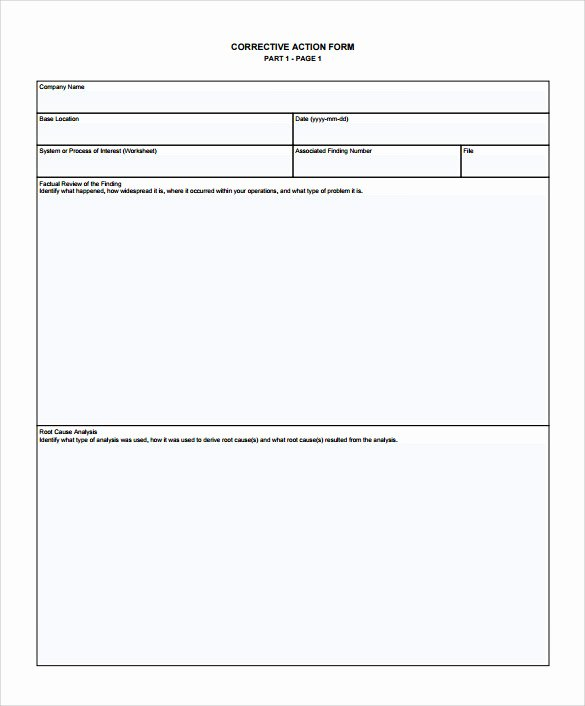 Employee Corrective Action Plan Template Best Of Sample Corrective Action Plan Template 9 Documents In