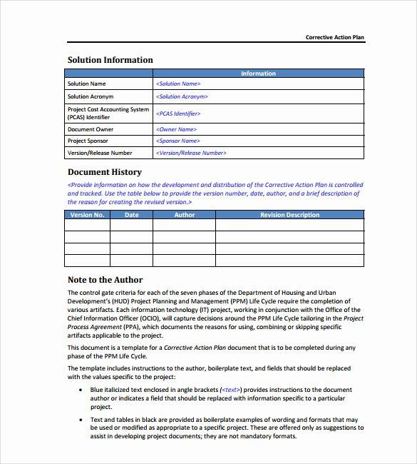 Employee Corrective Action Plan Template Fresh S Employee Action form Template Coloring Page for