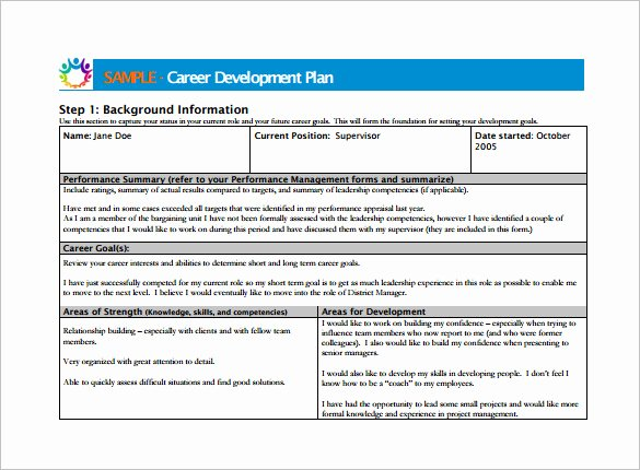 Employee Development Plan Template Best Of 10 Career Development Plan Examples Pdf Word