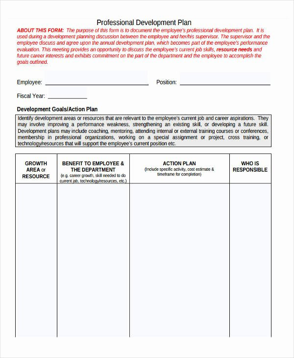 Employee Development Plan Template Best Of 26 Development Plan Templates Pdf Word
