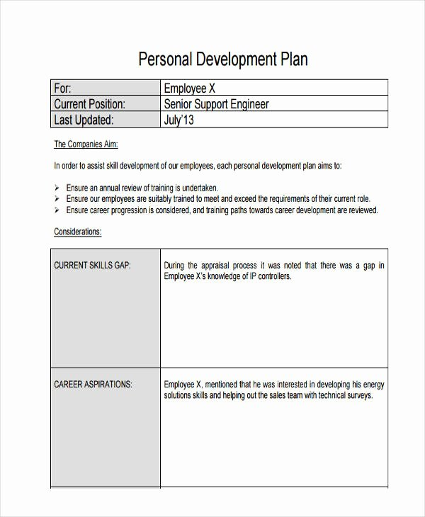 Employee Development Plan Template Inspirational 58 Development Plan Examples & Samples Pdf Word Pages