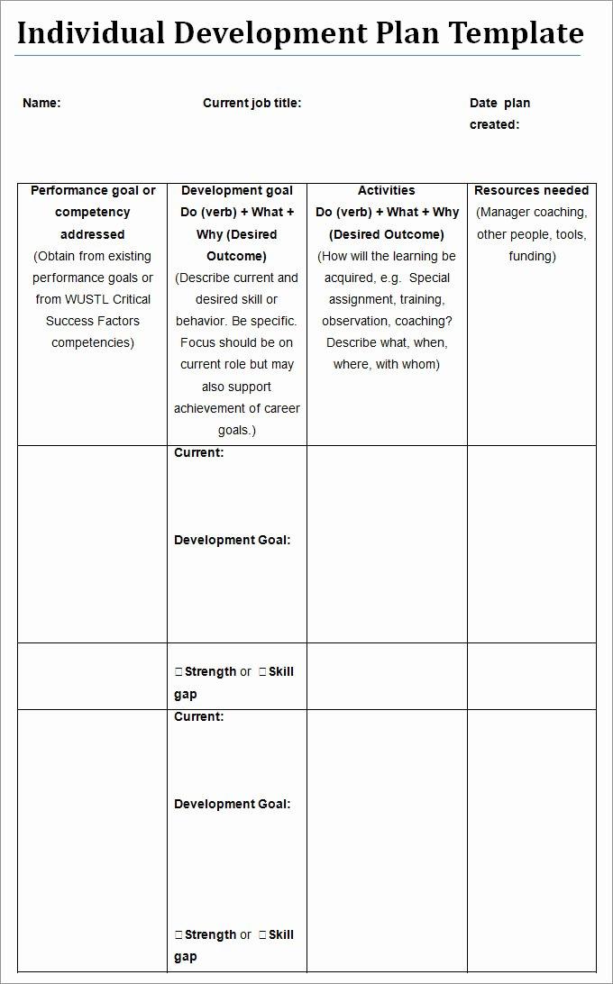 Employee Development Plan Template Unique Individual Development Plan Template 11 Free Pdf Word