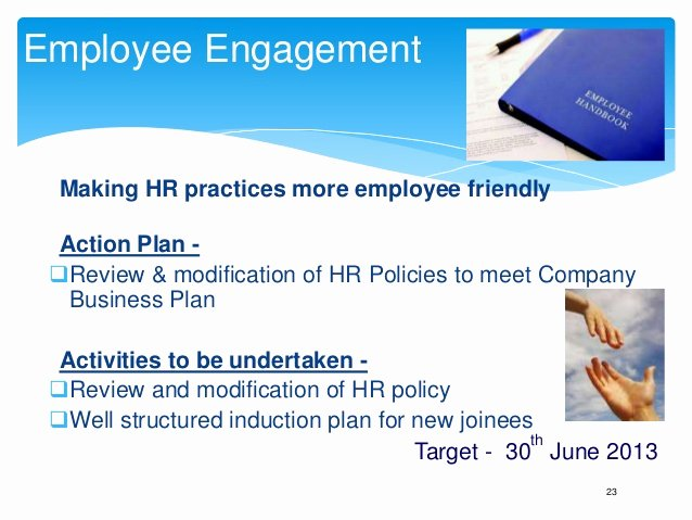 Employee Engagement Plan Template Awesome Annual Business Plan Hr Template Play This In Slide Show