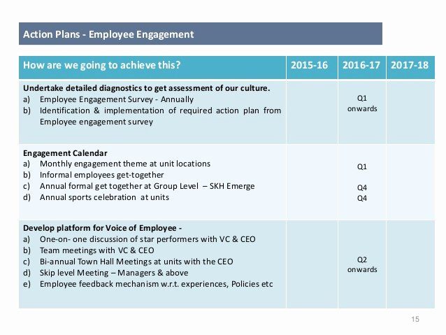 Employee Engagement Plan Template Best Of Long Term Hr Business Strategy