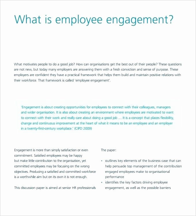 Employee Engagement Plan Template Fresh Employee Engagement Relations Plan Template Management