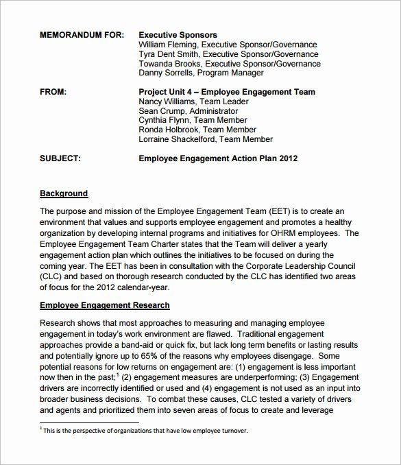 Employee Engagement Plan Template New 25 Plan Template Word Excel Pdf