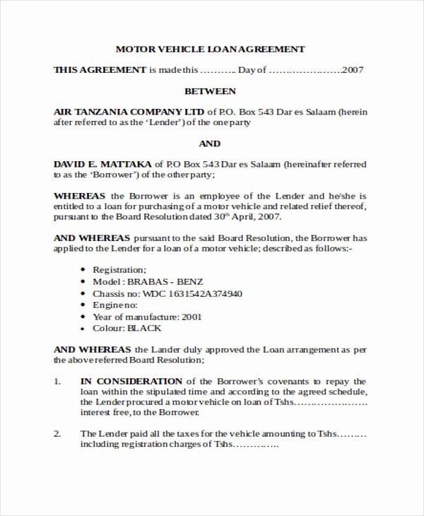Employee forgivable Loan Agreement Template Best Of forgivable Loan Agreement
