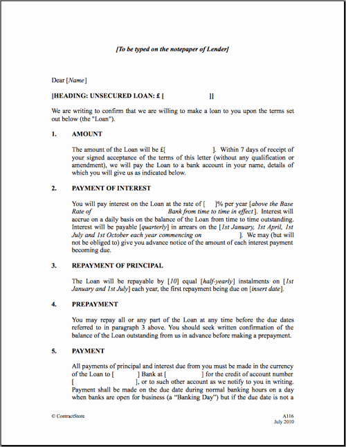 Employee forgivable Loan Agreement Template New Free Printable Personal Loan Agreement form Generic