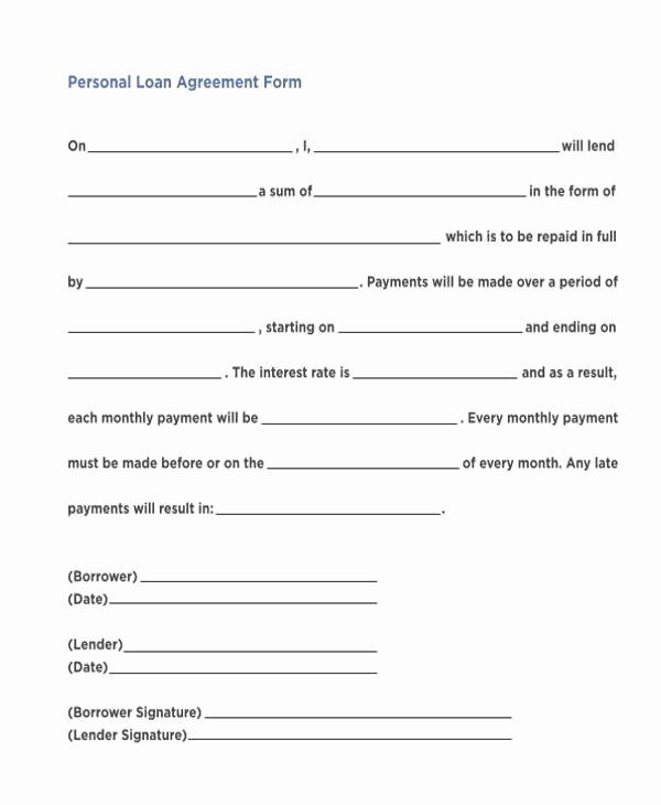 22 loan agreement template word