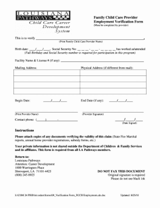 Employee forgivable Loan Template Unique Employment Certification form