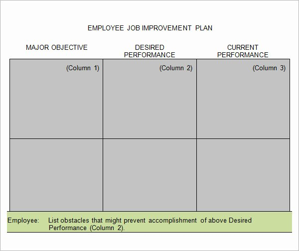 Employee Improvement Plan Template Luxury Performance Improvement Plan Template 14 Download