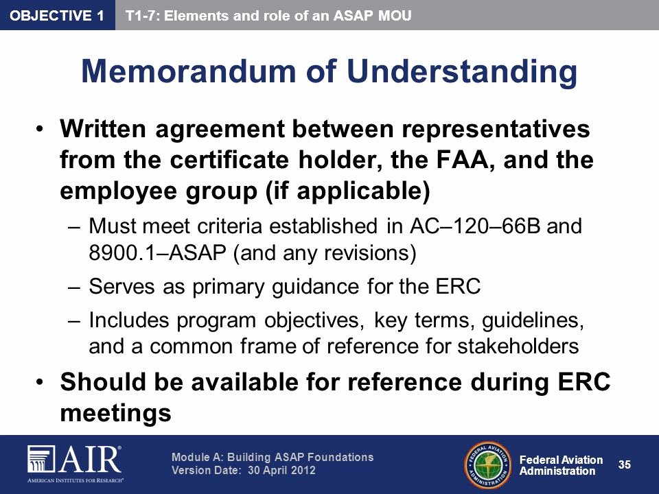 Employee Key Holder Agreement Beautiful Aviation Safety Action Programs Ppt