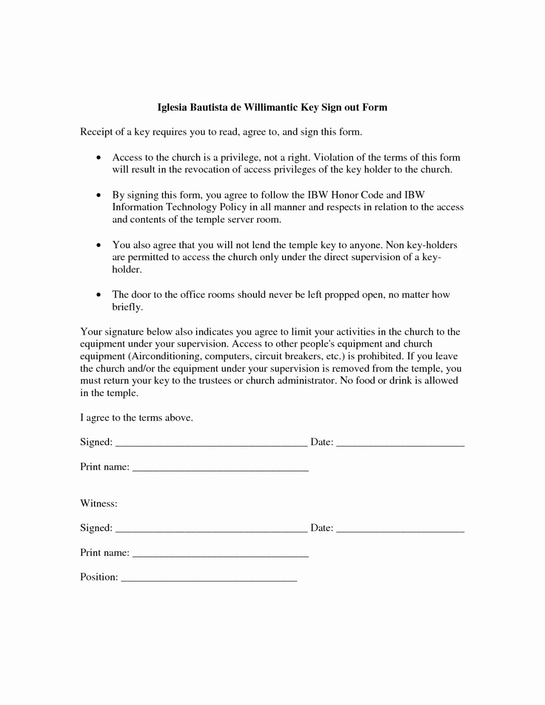 Employee Key Holder Agreement Beautiful Key form Template Dee84d7b0c50 Proshredelite
