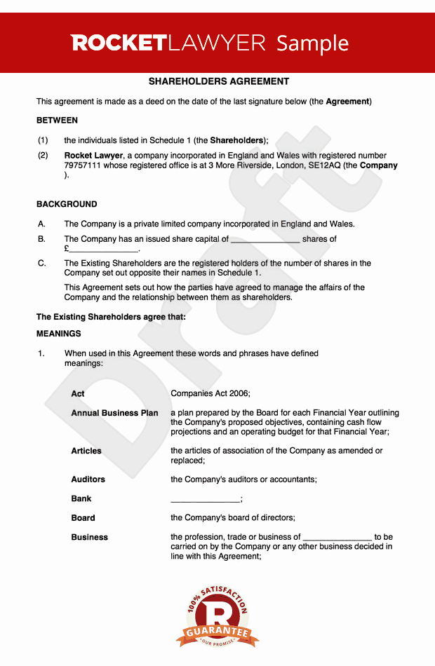 Employee Key Holder Agreement form Unique Free Holders Agreement Template Uk