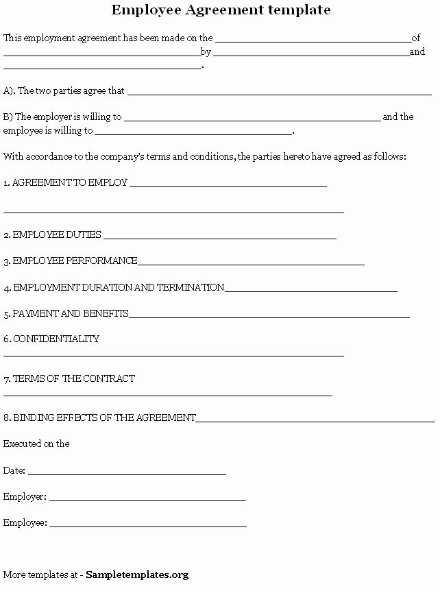Employee Key Holder Agreement Template Best Of Employee Agreement is A Contract Between An Employer and