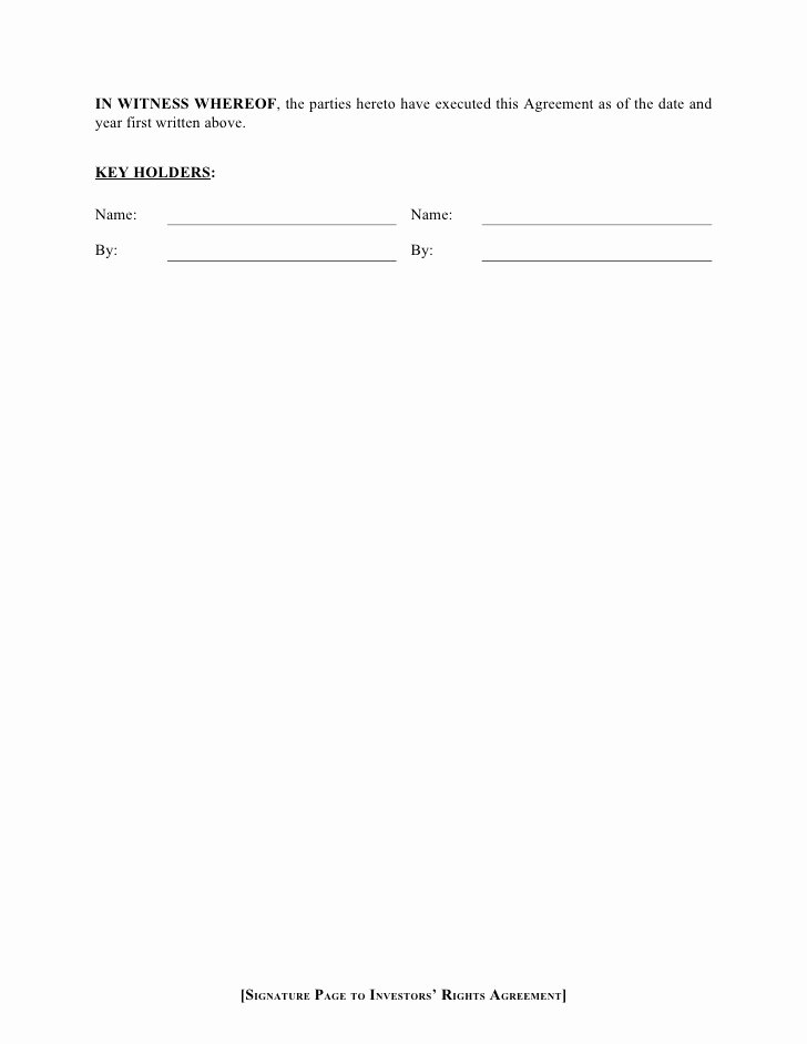 Employee Key Holder Agreement Template Best Of Series Seed Ira