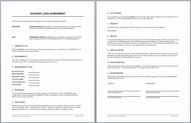 Employee Laptop Loan Agreement Beautiful Housing Loan Contract Template – Microsoft Word Templates