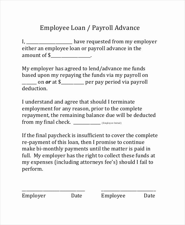Employee Laptop Loan Agreement Fresh Sample Loan Agreement form 9 Free Documents In Pdf