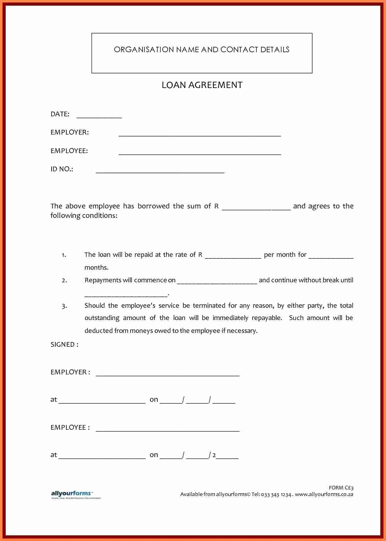 Employee Laptop Loan Agreement Lovely 7 Template Loan Agreement Between Family Members