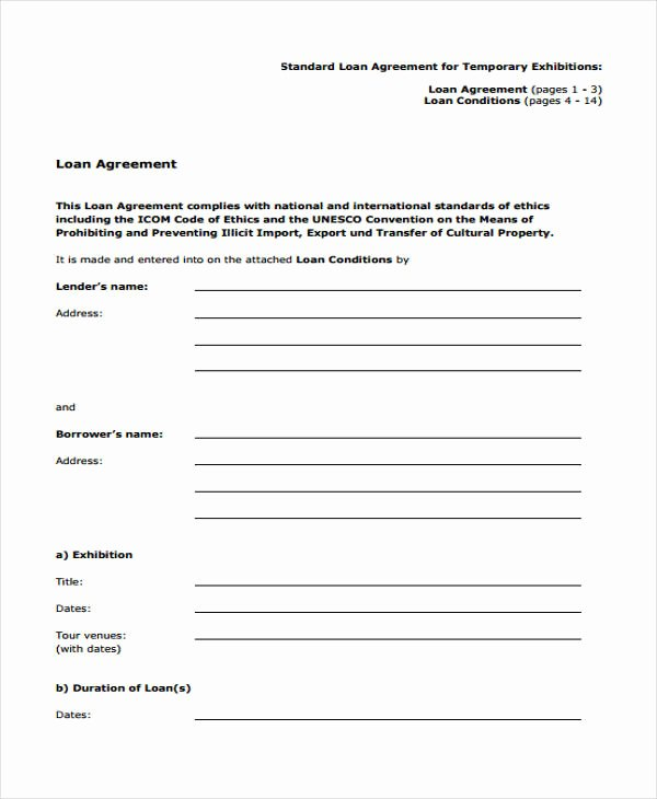 Employee Laptop Loan Agreement Luxury Loan Agreement form Template