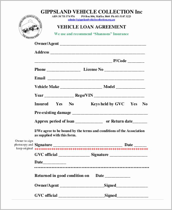 Employee Laptop Loan Agreement New Free Loan Agreement form