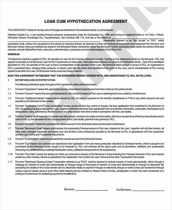Employee Loan Agreement California Awesome 35 Agreement Templates