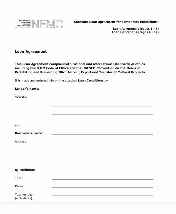 Employee Loan Agreement California Awesome 58 Printable Agreement Samples