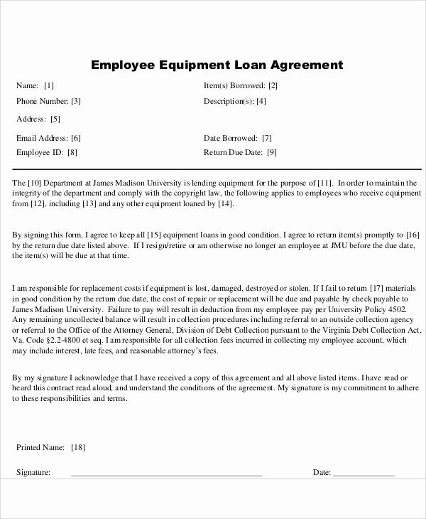 Employee Loan Agreement California Best Of 58 Printable Agreement Samples
