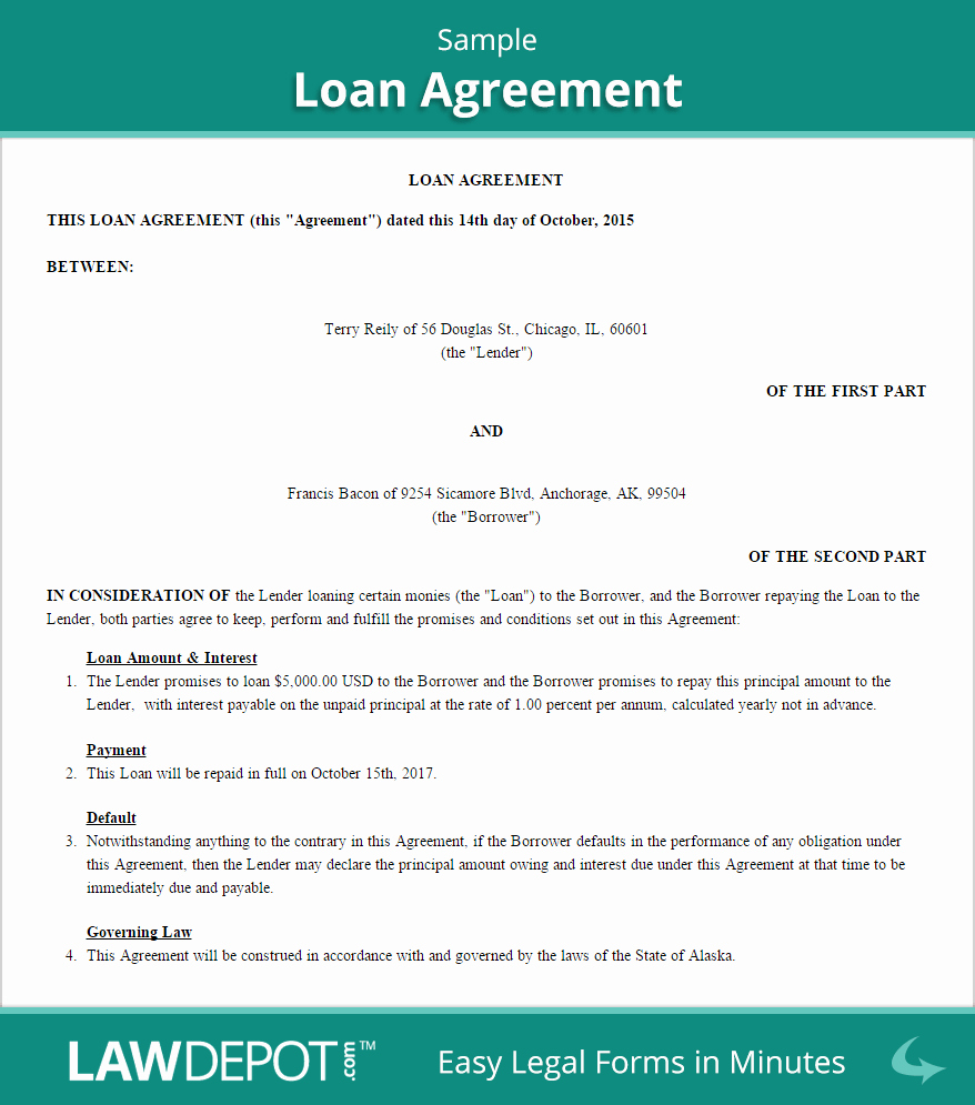 Employee Loan Agreement California Luxury Loan Agreement Template Us Free Loan Contract