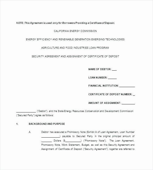 Employee Loan Agreement California Unique Business Loan Contract Template