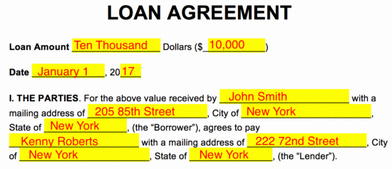 Employee Loan Agreement California Unique Free Loan Agreement Templates Pdf Word