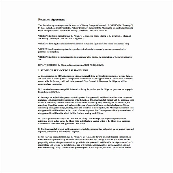 Employee Retention Plan Template Awesome 6 Employee Retention Agreement Templates Pdf