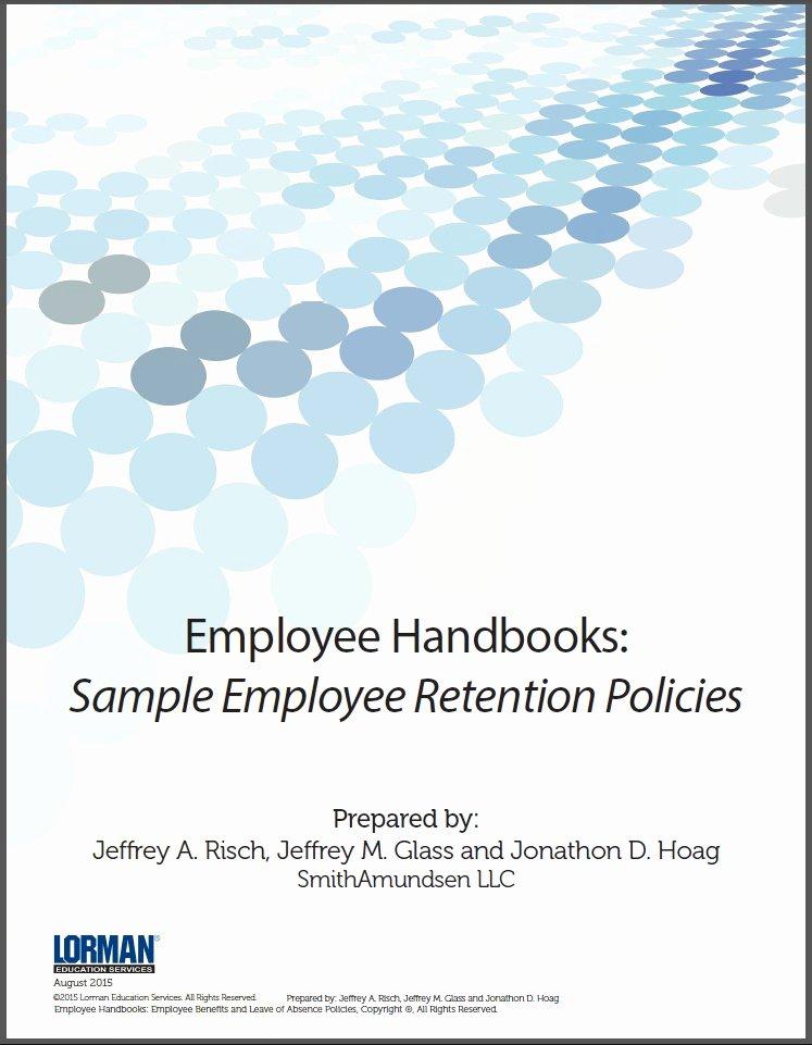 Employee Retention Plan Template Fresh Employee Handbooks Sample Employee Retention Policies