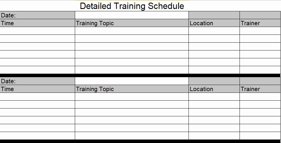 Employee Training Plan Template Awesome Download Employee Training Schedule Template for Pany