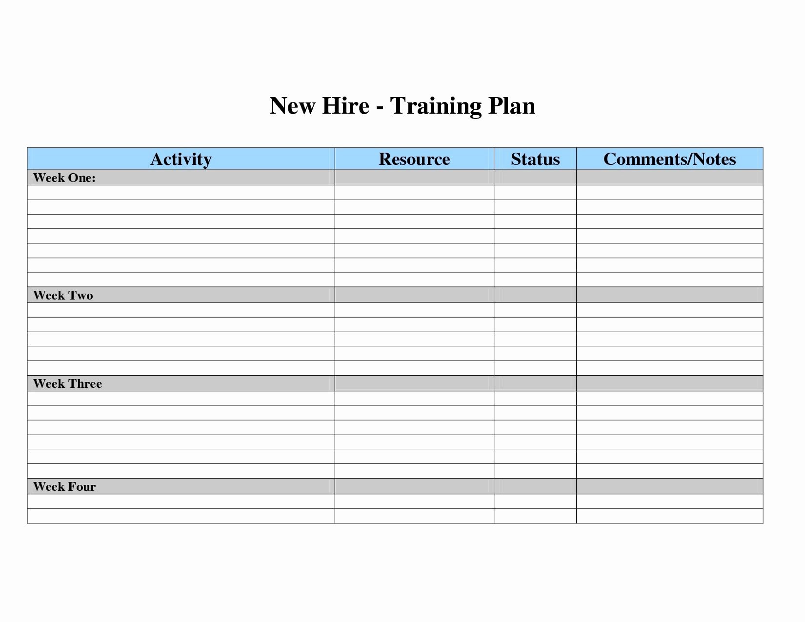 Employee Training Plan Template Excel Inspirational Employee Training Plan Template Excel Accraconsortium