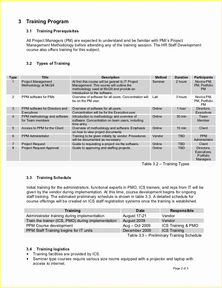 Employee Training Plan Template Inspirational Employee Training Plan Template