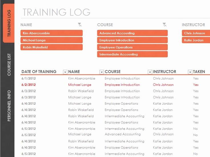 Employee Training Plan Template Inspirational Employee Training Tracker Templates Fice