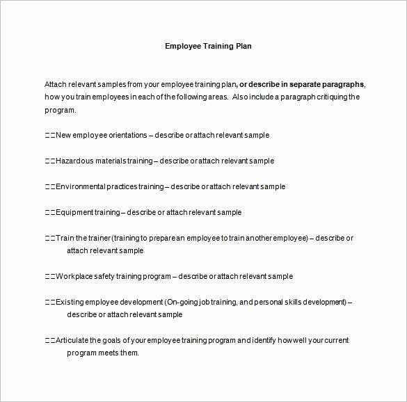 Employee Training Plan Template Luxury 26 Training Plan Templates Doc Pdf