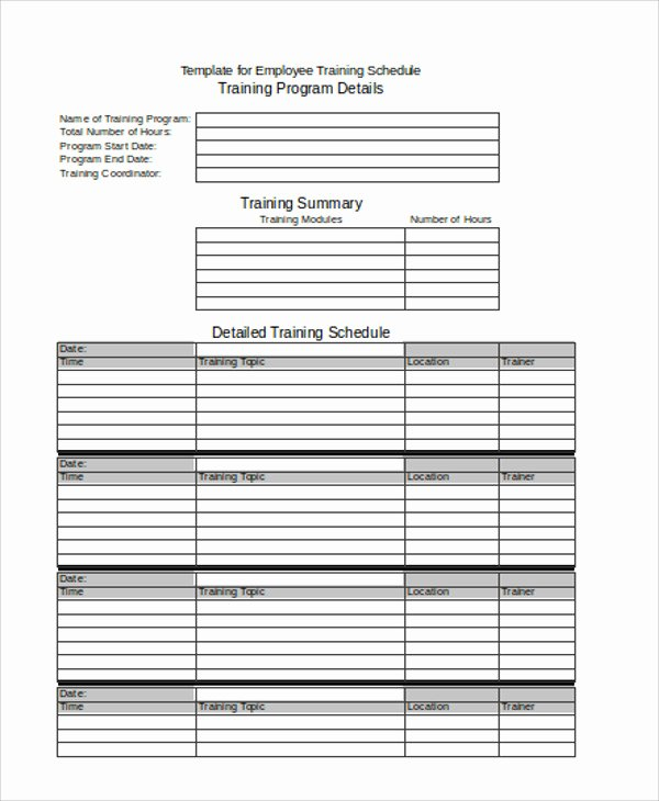 Employee Training Plan Template Unique 19 Agenda Templates In Excel